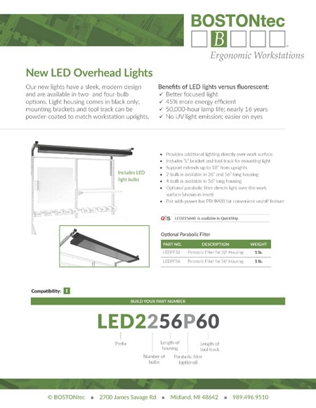 BOSTONtec New LED Overhead Lights