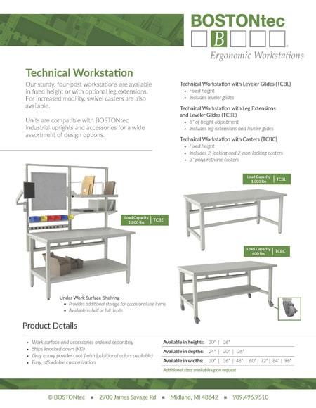 BOSTONtec Technical Workstation