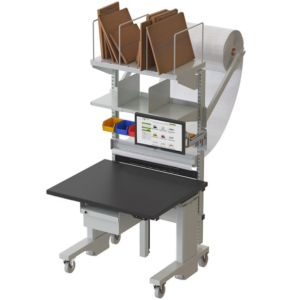 Ergonomic Packing Station on Casters