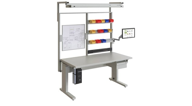 Grey Manual Adjustable Assembly Workbench