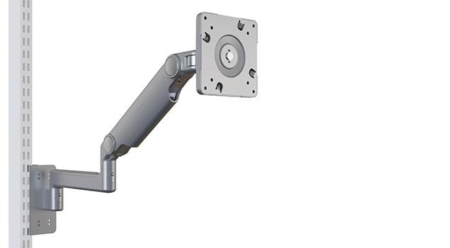 PFSMA Pneumatic Height Adjustable Flat Screen Monitor Arm w Upright