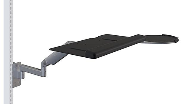 PKBAA Pneumatic Height Adjustable Keyboard Tray