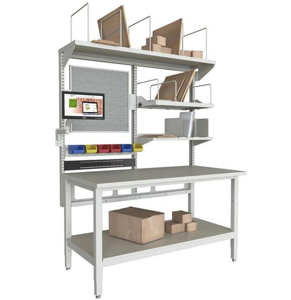Technical Workstation with Corrugate Shelf