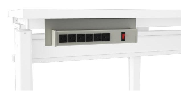 6-Outlet Horizontal Power Bar