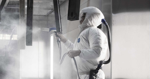 Paint booth spray