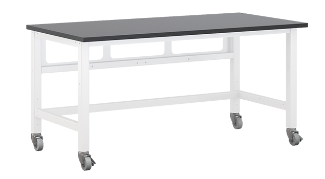 Fixed Height Utility Table with Casters (LUC)